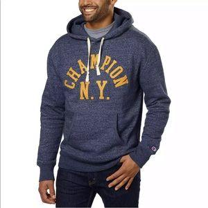 Champion blue long sleeve hoodie